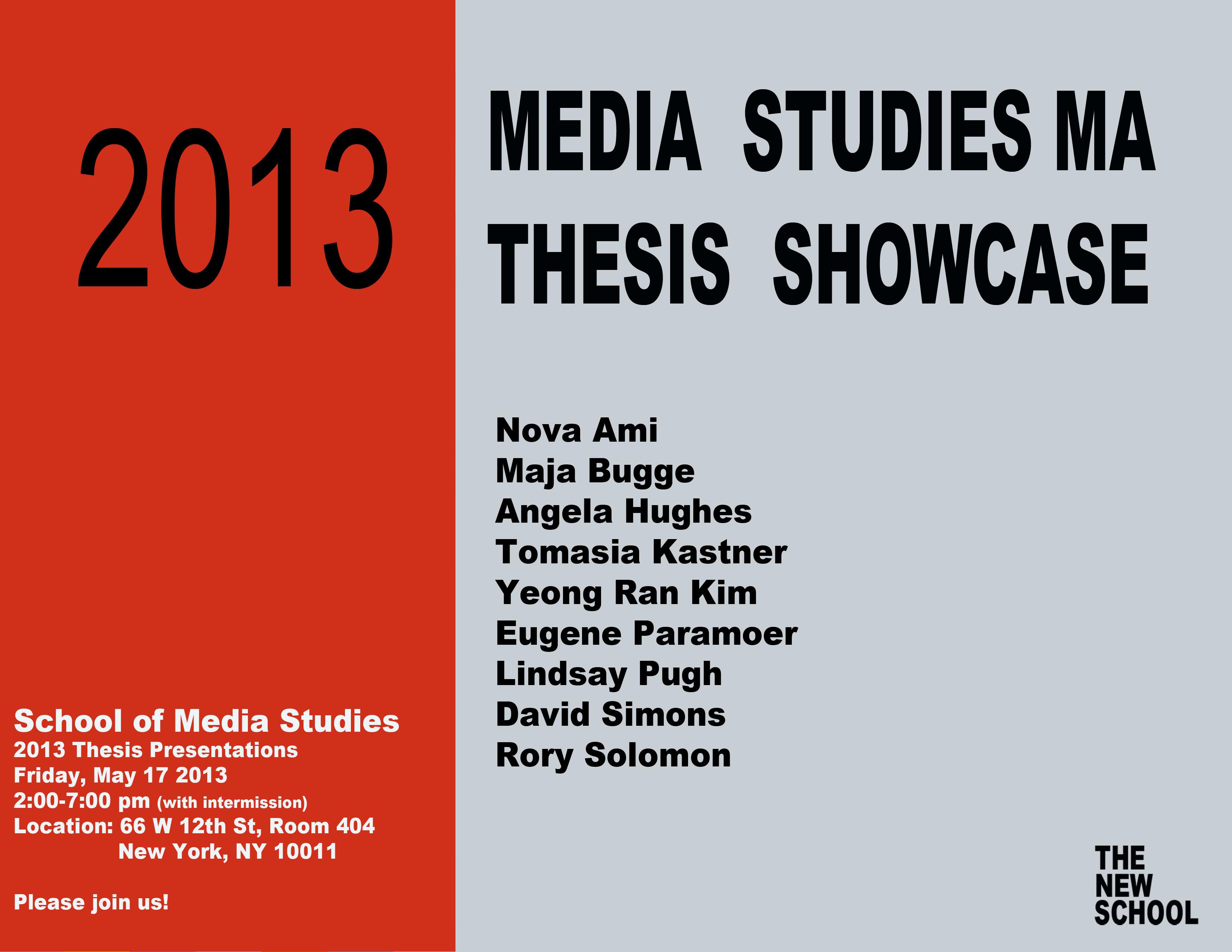 thesis on media studies